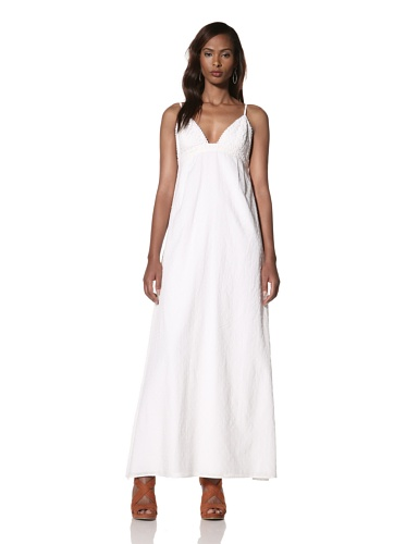 Dallin Chase Women's Dani Tank Maxi Dress (White)