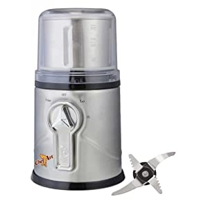 Chef Pro Chef Art CAG702 350-Watt Stainless Steel Wet and Dry Coffee, Spices and Herbs Grinder