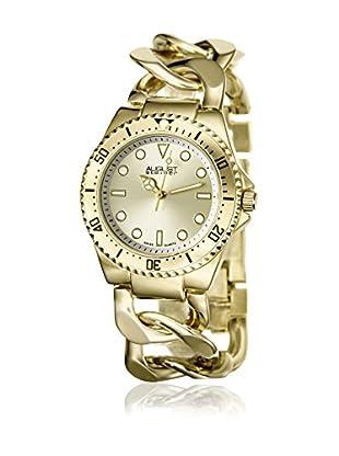 August Steiner Uhr mit schweizer Quarzuhrwerk  goldfarben 39 mm