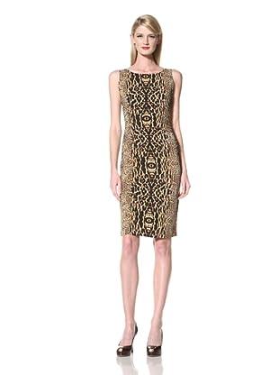 KAMALIKULTURE Women's Sleeveless Ruched Dress (Mixed Animal)