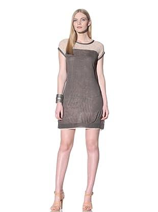 Thakoon Addition Women's Lace Back Combo Dress (Camel/Grey)
