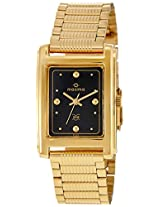 Maxima Formal Gold Analog Black Dial Men's Watch - 02326CPGY