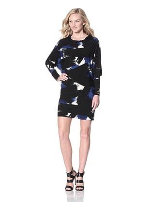 KAMALIKULTURE Women's All In One Dress (Blue/Black)