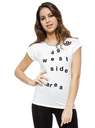 I-Code Camiseta Letras (blanco / gris)