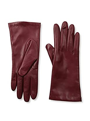 Portolano Women's Cashmere Lined Leather Gloves (Polish Garnet)