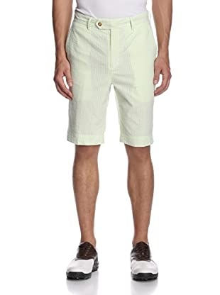 Fairway & Greene Men's Seersucker Stripe Shorts (Verde)