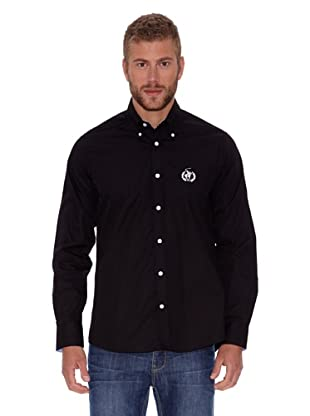 Polo Club Camisa Fitted Logo (Negro)