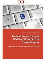 La Mise En Uvre de La Foad A L Universite de Ouagadougou