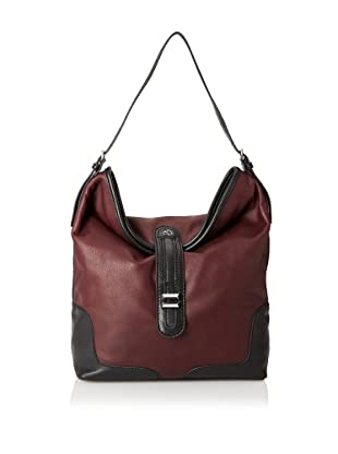 Charlotte Ronson Women's Classic Shoulder Bag (Wine)