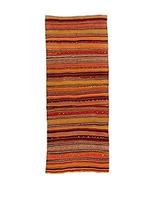 Design Community By Loomier Teppich Kilim Caucasico orange/mehrfarbig 134 x 327 cm