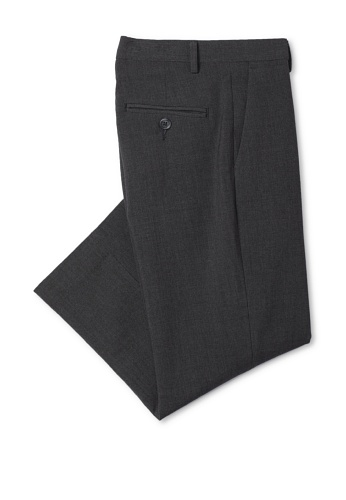 Calvin Klein Boy's 8-20 Bi-Stretch Flat Front Pant (Charcoal)