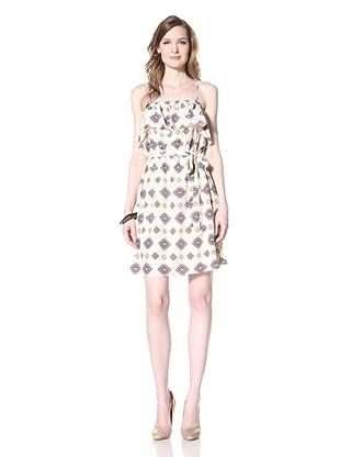 La Fée Verte Women's Front Ruffle Dress (Blush)