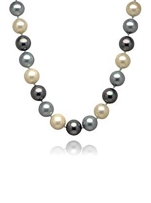 Perldor 60650032 - Collar de mujer de plata de ley con perla natural Gris/Natural 48 cm