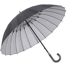 24本骨傘 高強度グラスファイバー仕様 【雨宿】 (あまやどり) 直径約105cm ブラック 22815