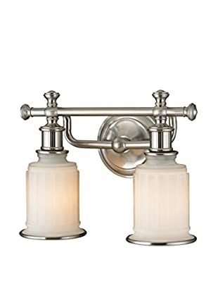 Artistic Lighting Acadia Collection 2-Light LED Bath Bar, Brushed Nickel