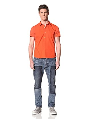 Edun Men's Mixed Media Polo (Poppy)