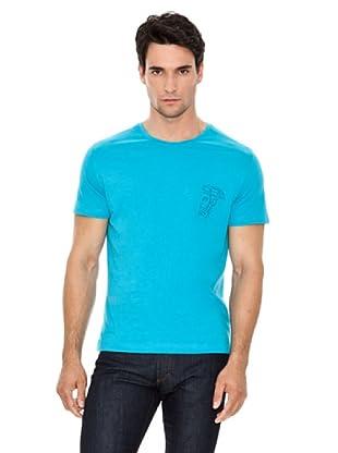 Versace Jeans Camiseta Logo Bordado (Azul Claro)
