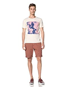 Vanishing Elephant Men's Eagle Man Short Sleeve T-Shirt (Oatmeal)