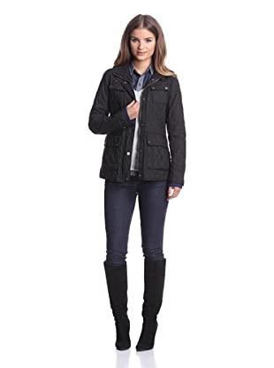 London Fog Women's Heritage Quilted Coat (Black)