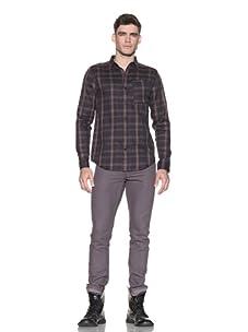 Comune Men's Heston Plaid Shirt (Dark Navy)