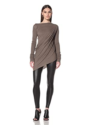 Rick Owens Liles Women's Extended Sleeve Side Drape Top (Dna Dust)