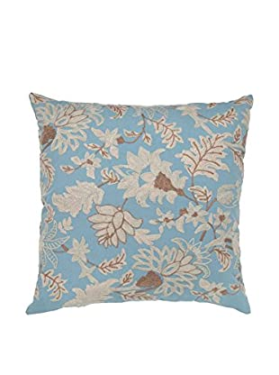 Cloud 9 Embroidered Cotton Throw Pillow, Light Blue