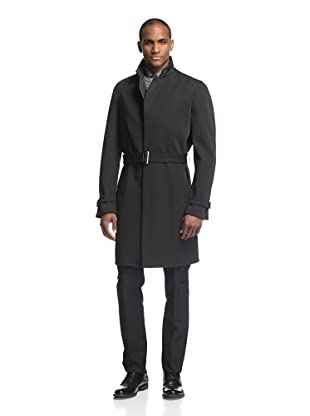 Calvin Klein Collection Men's Bonded Nylon Trench Coat (Black)