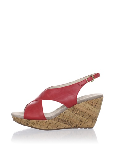 Chocolat Blu Women's Brit Cork Cross Front Wedge (Red)
