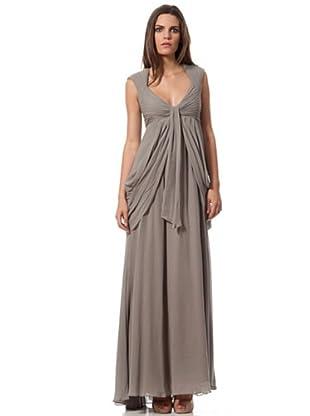 Caramelo Vestido Gasa (gris)