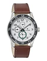 Titan Octane Analog White Dial Men's Watch -  1632SL01