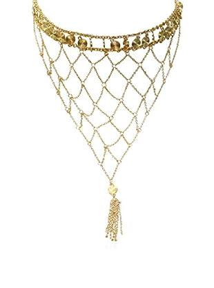Ettika 18K Gold-Plated Disk Bib Necklace