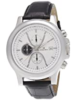 Maxima Chronograph White Dial Men's Watch - 27713LMGI
