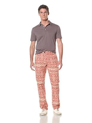 Benson Men's Woven Fancy Pant (Print 2 (Red/Tan))