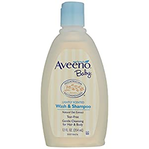 Aveeno Baby Wash and Shampoo Lightly Scented (12 fl oz)