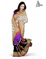 Astha Fashion Viscose Pallu Havey Border Party Ware Dule Color Saree