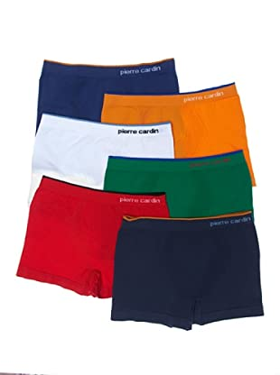 Pierre Cardin Pack 6 Boxer Sin Costuras Kids (Multicolor)