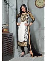Viva N Diva White And Black Color Georgette Salwar Suit - 1005
