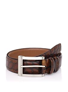J. Campbell Los Angeles Men's Embossed Leather Belt (Brown)