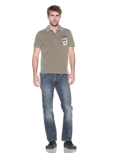 Z Brand Men's Short Sleeve Wildcat Polo (Army)
