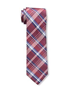 Bruno Piattelli Men's Plaid Silk Tie, Red