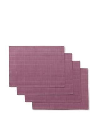 Winkler Set of 4 Bricks Jacquard Placemats (Purple)