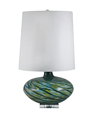Aurora Lighting Swirl Blown Glass Table Lamp (Blue)