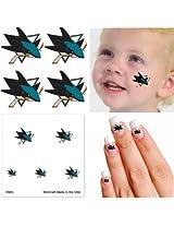 San Jose Sharks Temporary Tattoos - Fan Pack