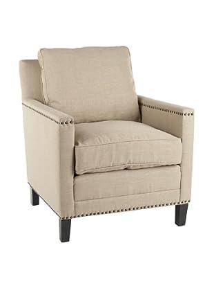 Safavieh Buckler Arm Chair, Straw/Espresso
