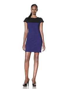 Yoana Baraschi Women's Faux Prep Dress (Bright Blue/Black)