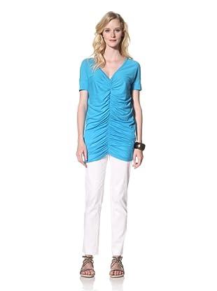 Susana Monaco Women's Frankie Shirt (Aquamarine)