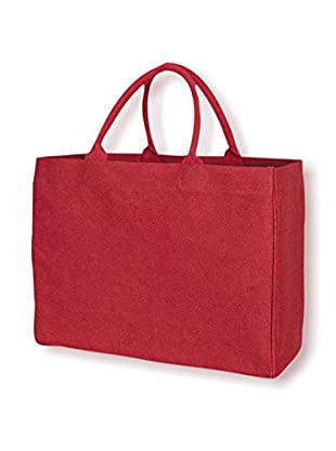 KAF Home Jute Market Tote, Red