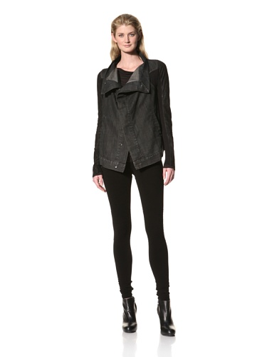 RICK OWENS Women's Contrast Denim Jacket (Dark Shadow)