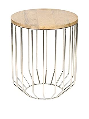 Prima Design Source Wire Frame Accent Table, Polished Nickel