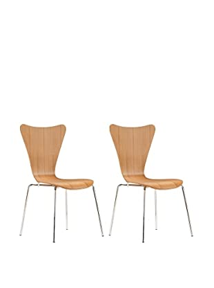 Zuo Set of 2 Taffy Dining Chairs (Brown)